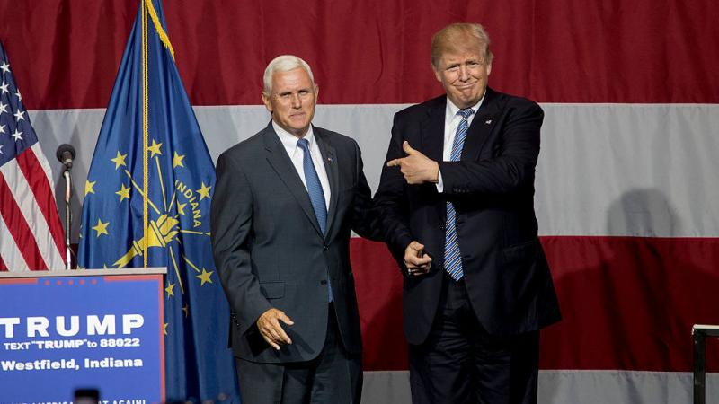 On Tuesday night, presumptive Republican presidential nominee Donald Trump campaigned with Indiana Gov. Mike Pence, whom he is vetting as a running mate.