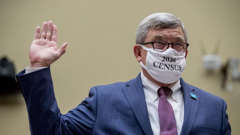 """Census Bureau Director Steven Dillingham, a Trump appointee who wore a """"2020 Census"""" mask while swearing in to testify before a congressional hearing last year, is set to leave on Jan. 20, months before his term ends on Dec. 31."""
