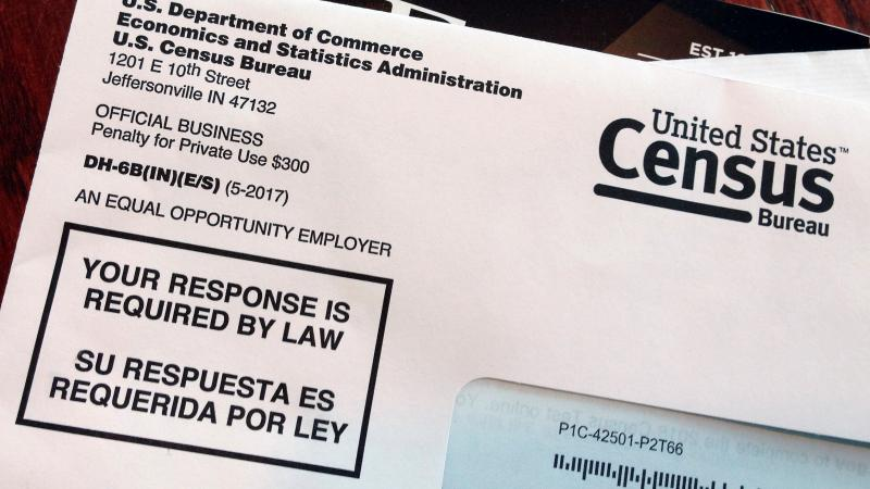 An envelope contains a test questionnaire for the 2020 census mailed to a resident in Providence, R.I., as part of the nation's only test run of the upcoming national headcount. A Trump administration plan to include a citizenship question on the 2020 cen