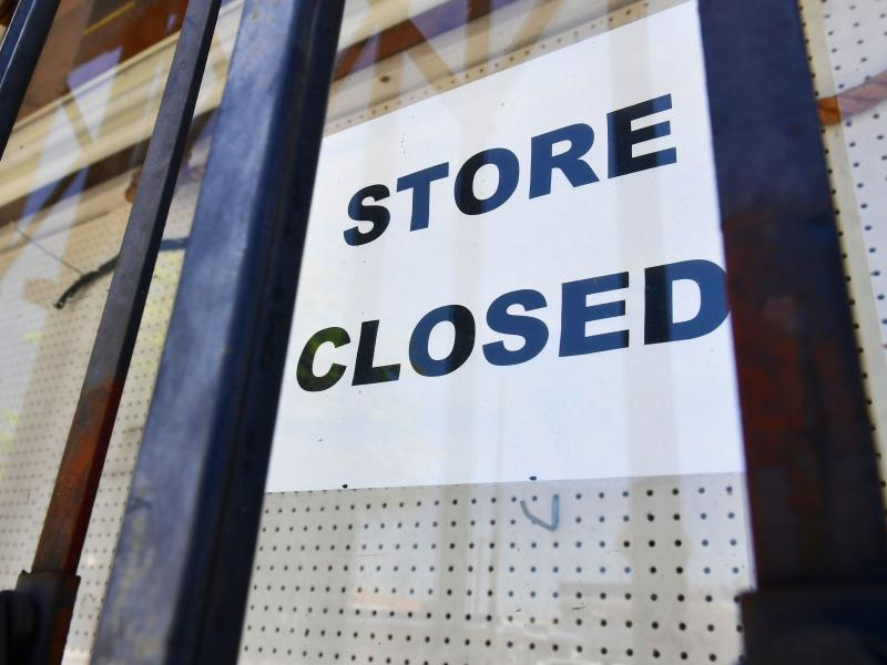 The U.S. economy slowed sharply in the last three months of the year from the previous quarter as the pandemic made a resurgence and businesses had to close.