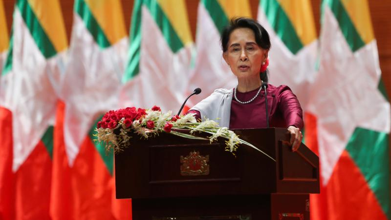 Myanmar State Counselor Aung San Suu Kyi, in a national address in September, said she felt deeply for the suffering of all people caught up in conflict scorching through Rakhine state — in her first comments that also mentioned Muslims displaced by vio