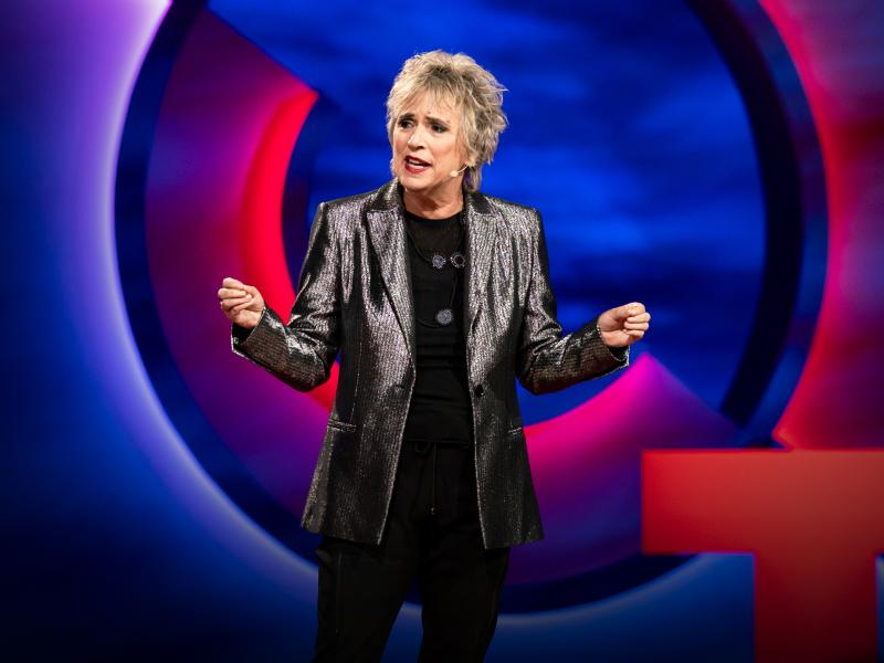 The playwright V, formerly known as Eve Ensler, speaks at TEDWomen 2019.
