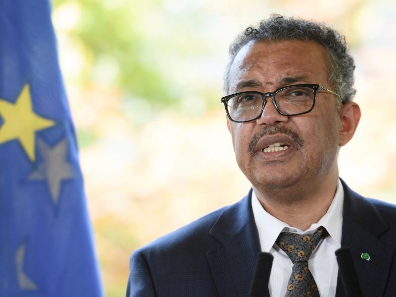 World Health Organization Director-General Tedros Adhanom Ghebreyesus speaks during a news conference earlier this week in Geneva.