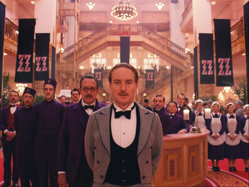 Wes Anderson shot the Grand Budapest Hotel's lobby scenes in a department store on the German-Polish border.