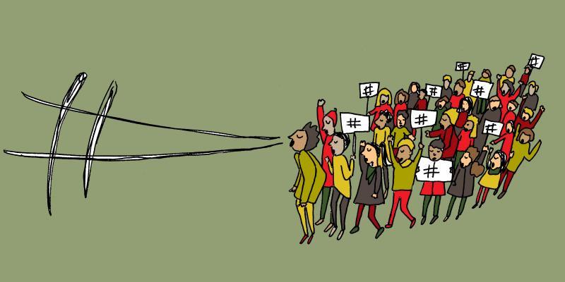 Hashtag activists.