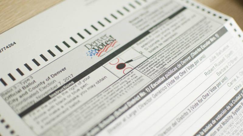 A mail-in ballot for Denver, Colo. There are local elections on Tuesday and there's been a struggle to find candidates to run in many parts of Colorado.