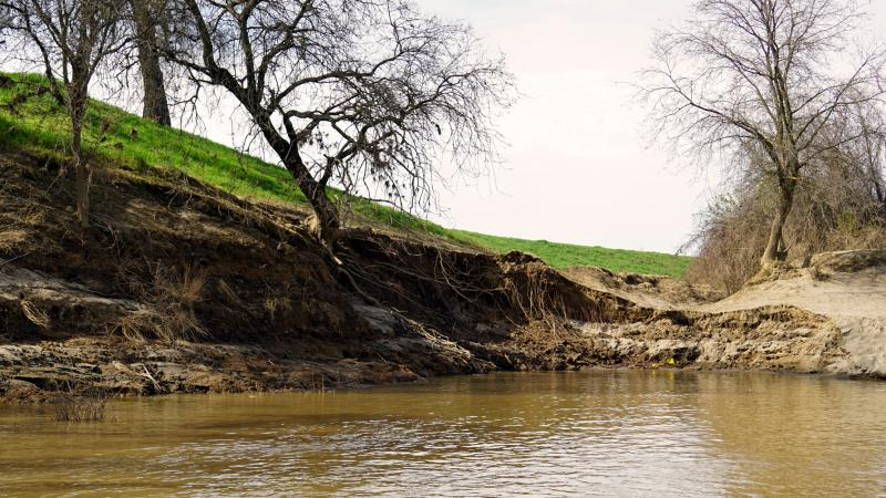 The levees below the Oroville Dam were damaged by heavy floodwaters this winter and many need repairs.