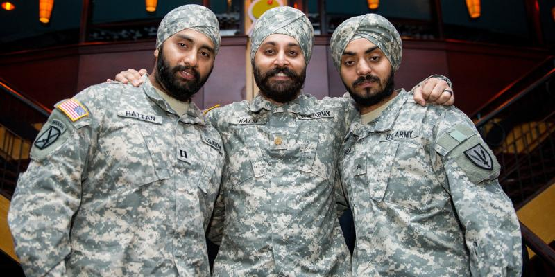 Image result for sikh man in us army