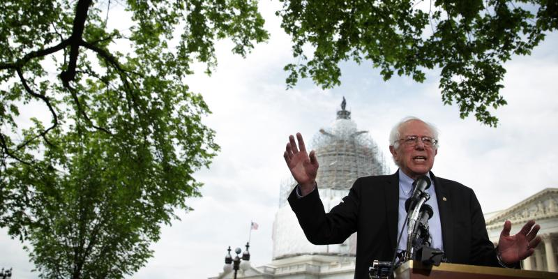 Bernie Sanders announced his presidential bid Thursday. Though he'll challenge Hillary Clinton for the Democratic nomination, his candidacy could actually help hers.