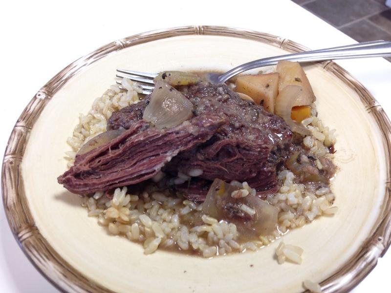 """Slow-cooked New York bear meat has been described as like beef stew, but with """"a little stronger texture and a little gamier flavor."""""""