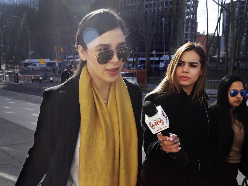 """Emma Coronel Aispuro (far left), wife of Joaquín """"El Chapo"""" Guzmán, is facing several charges in connection with her alleged involvement in the Sinaloa cartel's drug trafficking, as her husband sits in a U.S. prison."""