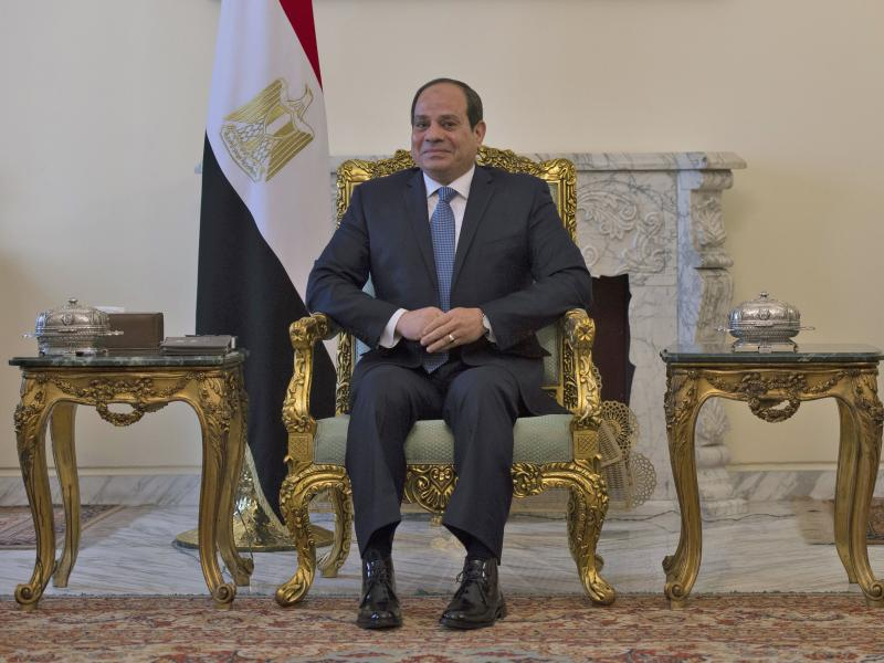 Egyptian President Abdel-Fattah el-Sissi, shown here in January in Cairo, could stay in office until 2034 if constitutional amendments approved by parliament pass a popular referendum.