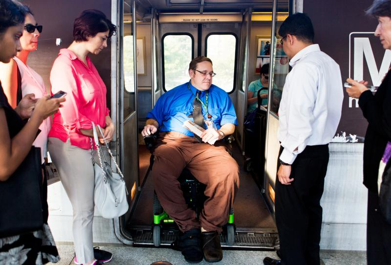 Jason Olsen, a 39-year-old policy adviser for the Department of Labor, uses the Washington, D.C., Metro to commute to work three times a week. On the other days of the week, Olsen telecommutes from home to avoid the challenge of taking the Metro.