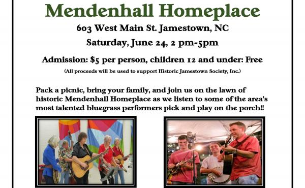 Bluegrass Live Music Fundraiser Quaker Historic House Family Fun