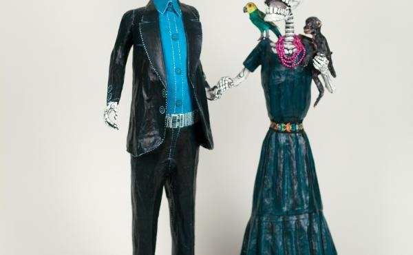 Day of the Dead figures of Diego Rivera and Frida Kahlo