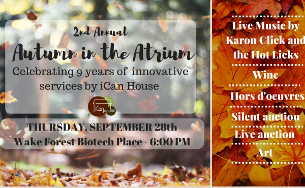 Autumn in the Atrium, iCan House fundraising event
