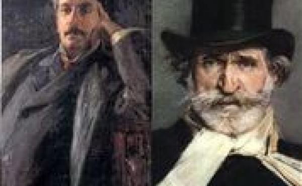 Image of two men from older era
