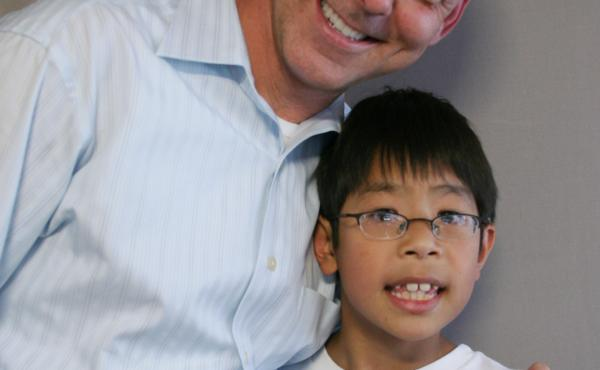 John Curtis with his 11-year-old son, John Wikiera.