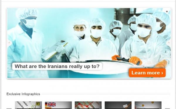 A screen grab from NuclearEnergy.ir. The English-language website makes Iran's case for its controversial nuclear program.
