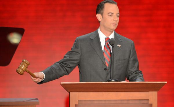 """Reince Priebus, shown at the Republican National Convention in August, says Republicans need to """"grow our party without compromising our principles."""""""