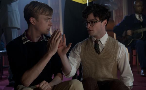 "In Kill Your Darlings, Dane DeHaan (left) plays Lucien Carr, a man whose charm and wit quickly command the attention of the young Allen Ginsberg (Daniel Radcliffe) in their time at Columbia University. John Krokidas' film chronicles the ""Libertine Circle"""