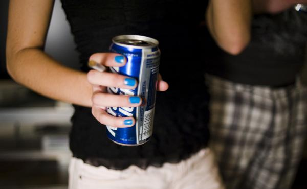 "A picture from the photo story ""Keg Stand Queens,"" which explores the gender dynamics of undergraduate binge drinking."