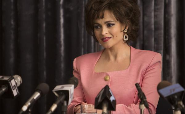 Helena Bonham Carter plays Elizabeth Taylor in Burton and Taylor, a BBC America movie that focuses on the famous couple's stint acting together on Broadway in 1983.
