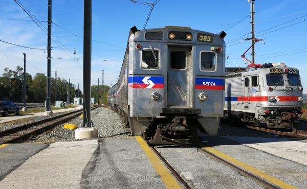 The Southeastern Pennsylvania Transportation Authority tests its Positive Train Control system at the agency's rail yard near Malvern, Pa. The system will cost SEPTA about $328 million. The regional passenger railroad is one of the few in the country that