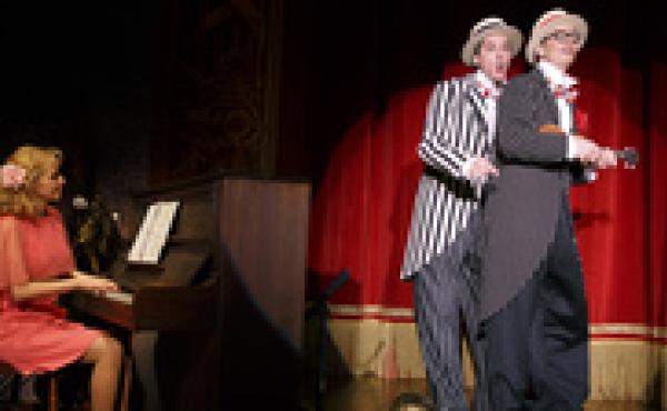 Nellie McKay, David Shiner and Bill Irwin use old-time comedy, newfangled tricks and zany music to score laughs in their new theatrical revue, Old Hats.