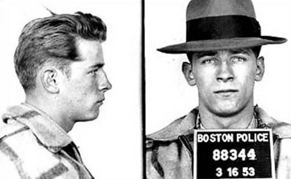 "An early mug shot shows James ""Whitey"" Bulger in 1953."