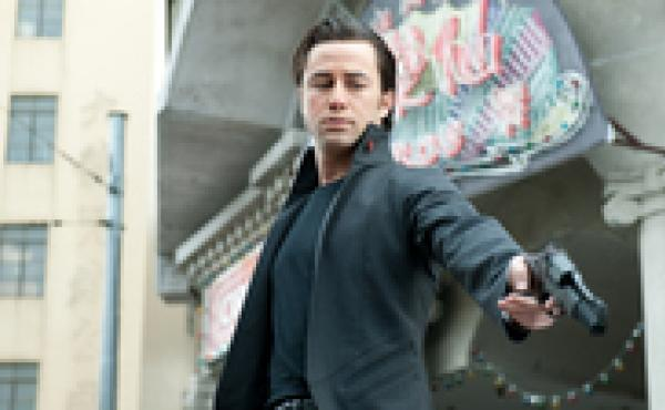 Joseph Gordon-Levitt stars in the science-fiction thriller Looper.