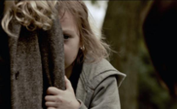 Victoria (Megan Charpentier) and her sister, Lilly (Isabelle Nelisse), are near-feral orphans in the horror thriller Mama.