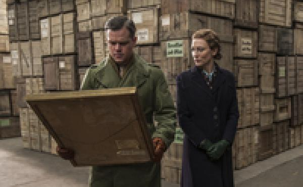 "Critic David Edelstein says that The Monuments Men has ""an all-star cast"" — including Matt Damon and Cate Blanchett — but that ""the stars are all low-wattage."""