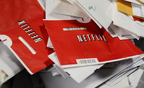 Red Netflix envelopes.