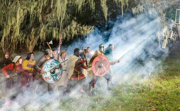 The Vikings Have Landed: Photographer Ved Chirayath staged this photograph in Palo Alto Foothills Park in California last December.