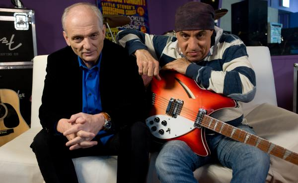 Director David Chase and Executive Producer and Music Supervisor Steve Van Zandt on the set of Not Fade Away.