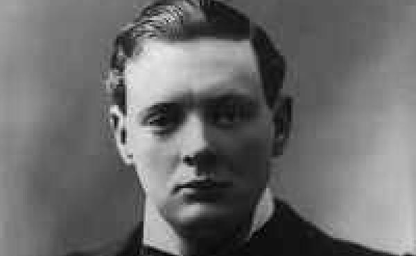 """A portrait of Winston Churchill in 1900, around the time he wrote """"Our Modern Watchwords."""""""