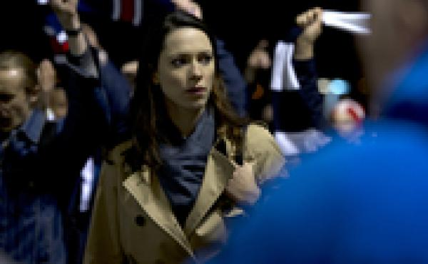 Chaos, panic and disorder: Rebecca Hall stars as a barrister whose assignment leads to all kinds of bad things in the security-state thriller Closed Circuit.