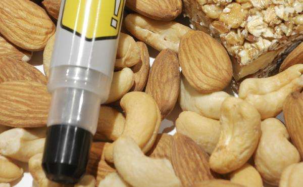 Epipen with nuts.