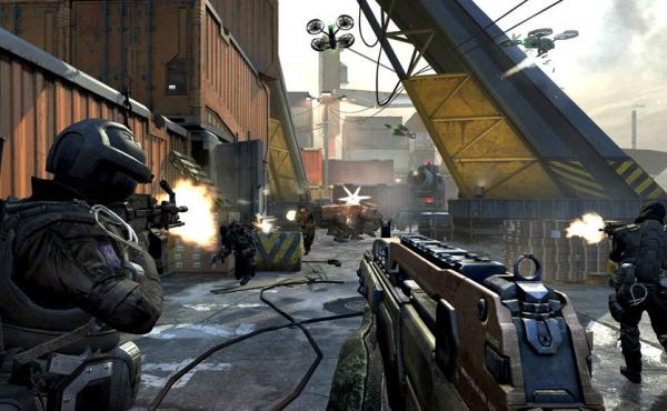 A typical scene from Call of Duty: Black Ops 2, the latest in the series of wildly popular video games.