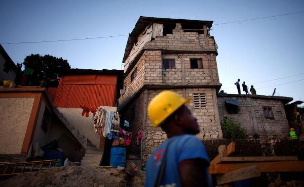 Many homes that were rebuilt after the earthquake in 2010 are even more dangerous than the original ones. This three-story home was put up after the quake but is already slated for demolition to make way for an 18-unit housing project.