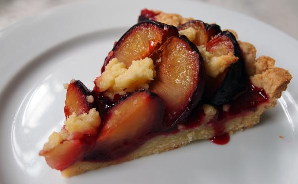 Zwetschgendatschi is the Bavarian word for plum cake. The dessert uses Damson plums, which are only in season for a few weeks each year.