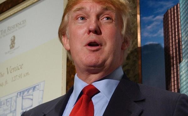 Donald Trump officially opens the Presentation Centre for the Residences at The Ritz-Carlton Toronto on Nov. 29, 2001.