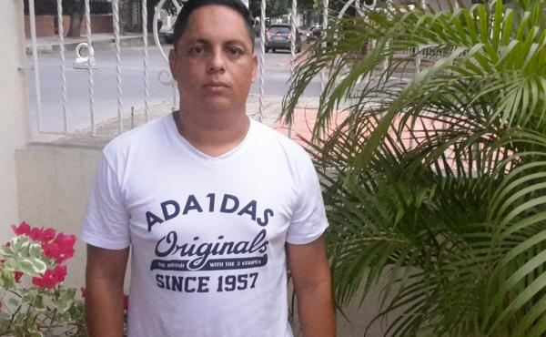 Harry Solano, 36, a sergeant in Venezuela's National Guard, recently fled to Colombia.