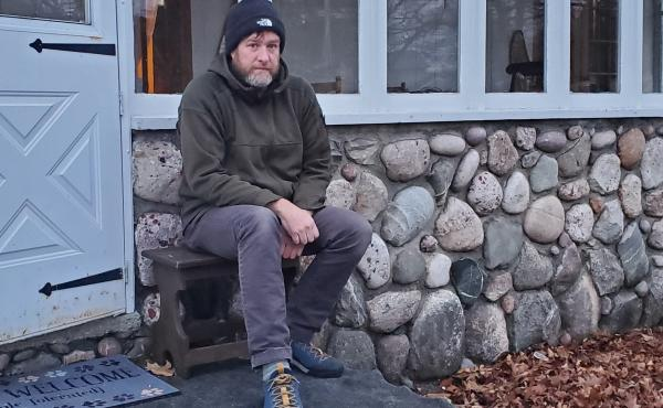 """Todd Anderson is a single dad raising four children in Mackinaw City, Mich. """"I'm pretty honest and open with them,"""" he says. """"They know we're in a spot right now."""""""