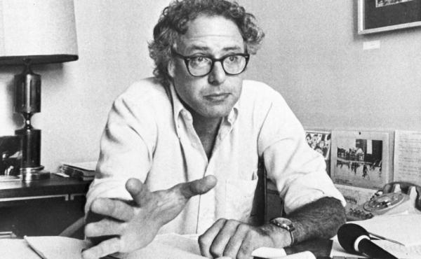 Sen. Bernie Sanders in his office in 1981, shortly after becoming mayor of Burlington, Vt. He once said his tenure as a socialist mayor is evidence people are willing to accept radical change.