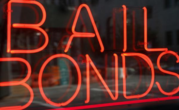 The Associated Press reports that 14 percent of criminal defendants are held on bail in New York City.