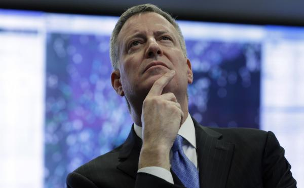 New York City Mayor Bill de Blasio is set to step onto the national stage with his progressive
