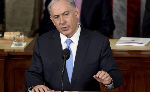 Israeli Prime Minister Benjamin Netanyahu speaks before a joint meeting of Congress on Capitol Hill in Washington on Tuesday. He called the deal the U.S. and its allies are negotiating with Iran