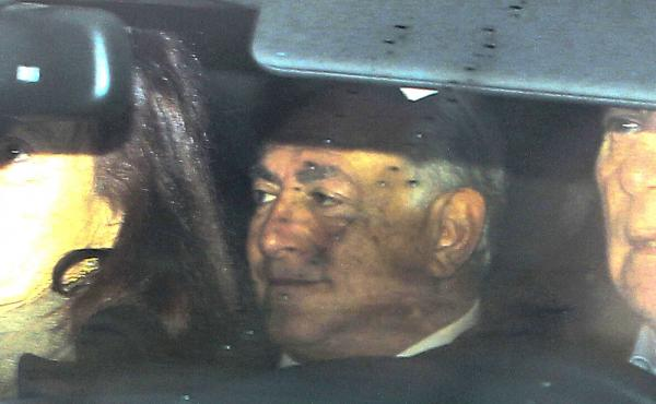 Dominique Strauss-Kahn arrives at the courthouse in Lille, France, on Tuesday to testify in a trial involving orgies and an alleged prostitution ring.